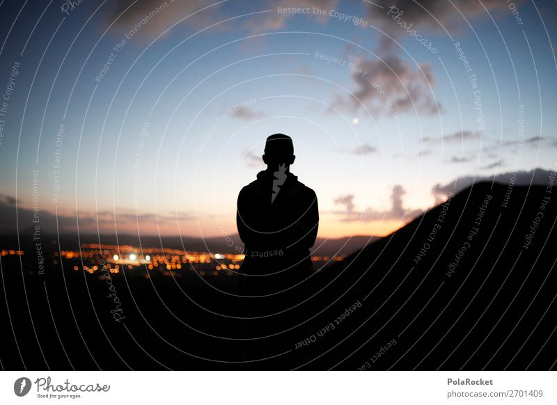 #AS# Dark Light Art Esthetic Human being Youth (Young adults) Perspective Far-off places Horizon Future Futurism Forward-looking Dream of the future Silhouette