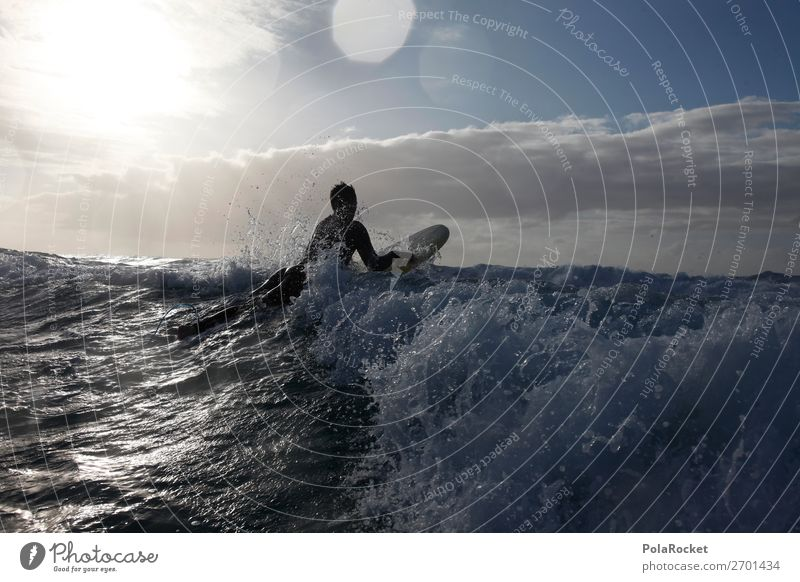 #AS# On the way Art Adventure Surfing Surfer Surfboard Surf school Waves Swell Undulation Wavy line Fuerteventura Colour photo Subdued colour Exterior shot