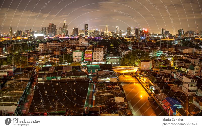Noche en Bangkok Thailand Asia Town Capital city Downtown Outskirts Overpopulated Manmade structures Building Architecture turismo viajar noche panoramica