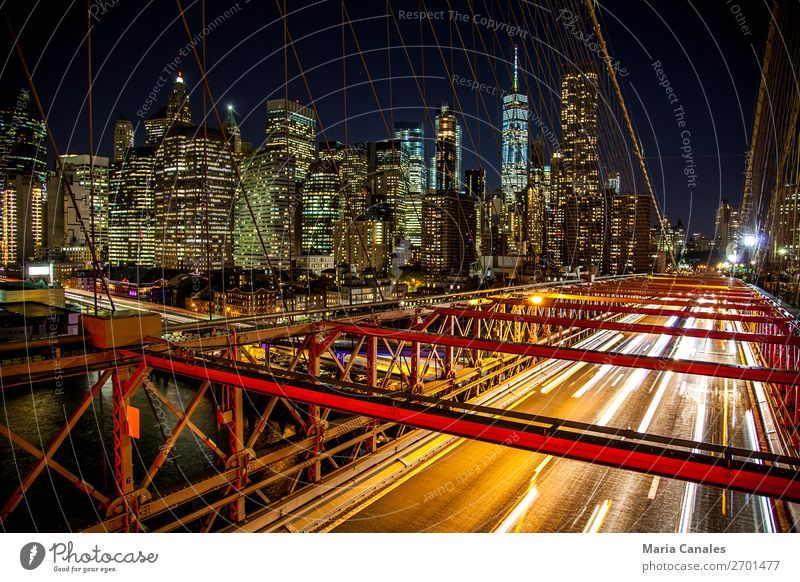 New york, New york! Nueva York USA Americas Town Downtown Bridge Building Architecture Tourist Attraction Brooklyn Transport Means of transport