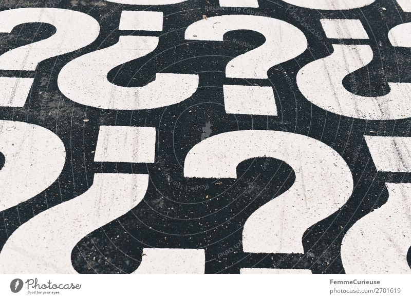 Characters Communicate Footpath Sign Ask Question mark Punctuation mark
