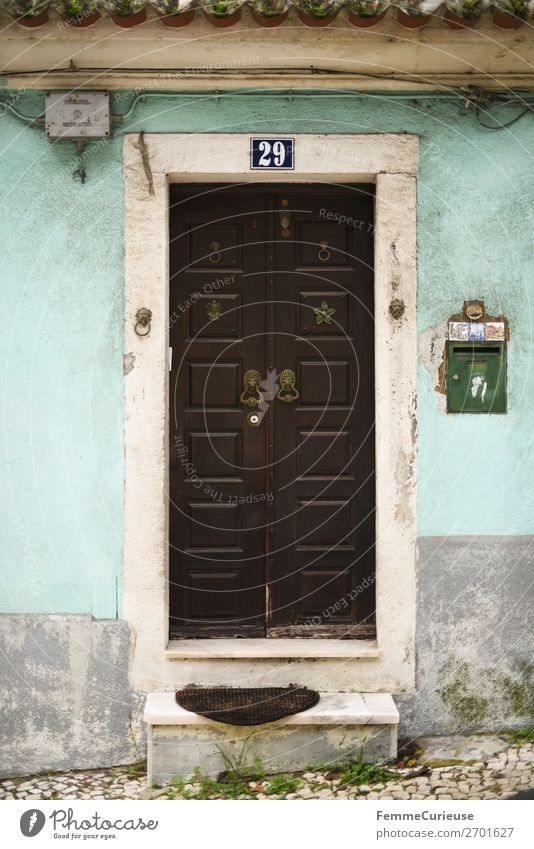 Vacation & Travel House (Residential Structure) Travel photography Facade Living or residing Door Turquoise Portugal