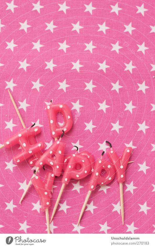 Happy day Lifestyle Decoration Party Feasts & Celebrations Birthday Childrens birthsday Candle Kitsch Odds and ends Sign Characters Star (Symbol) Point