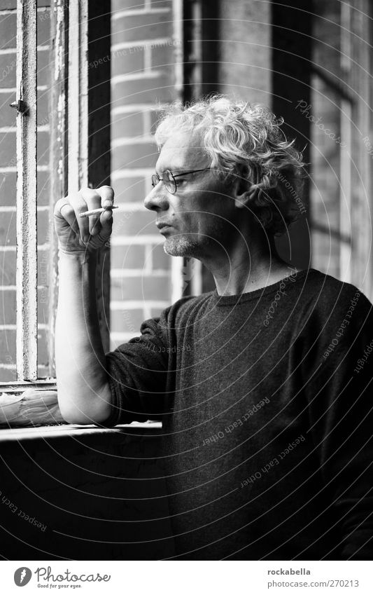AST5 meta levels. Masculine 1 Human being 45 - 60 years Adults Observe Dream Cool (slang) Uniqueness Honest Authentic Smoking Black & white photo Interior shot