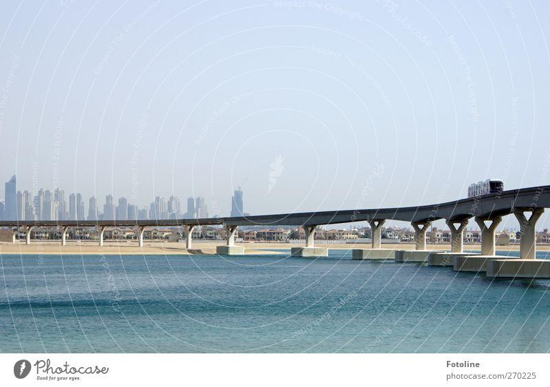City Bright Transport Bridge Traffic infrastructure Passenger traffic Means of transport Dubai Train travel Public transit Rail transport Rail vehicle