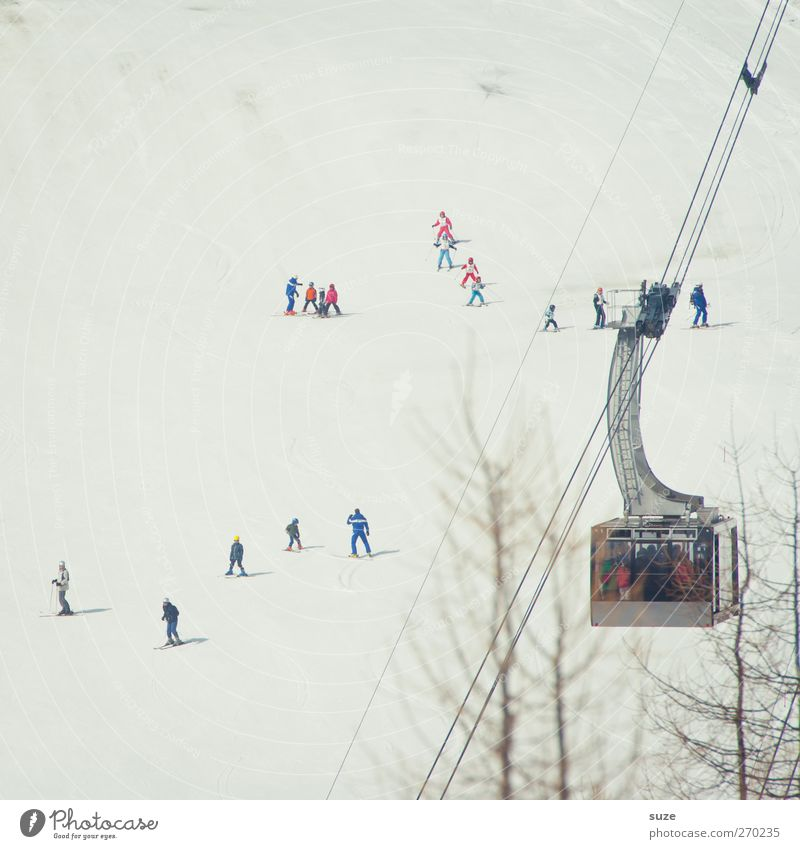ski base Leisure and hobbies Vacation & Travel Tourism Winter vacation Skiing Human being Crowd of people Environment Nature Landscape Elements Snow Alps