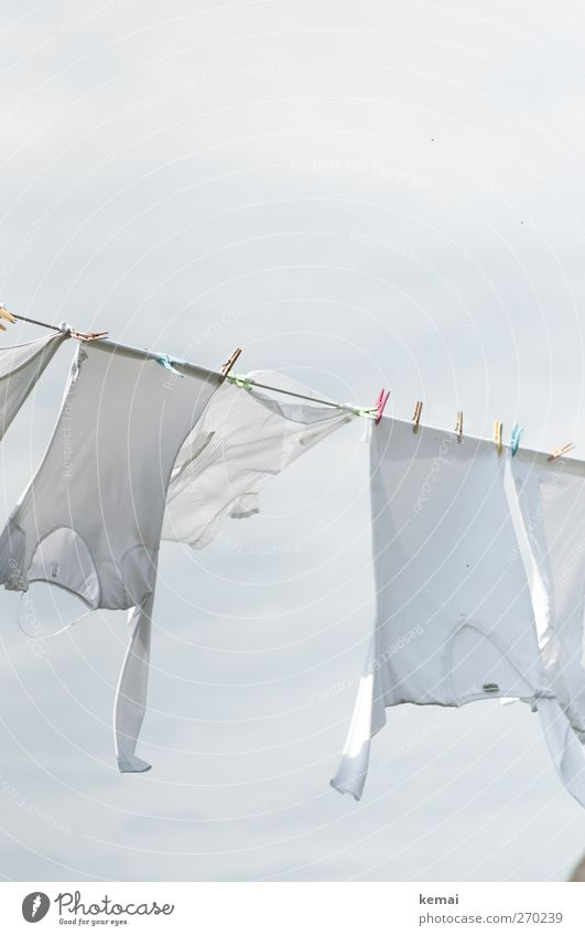 White Air Bright Wind Fresh Clothing T-shirt Shirt Hang Laundry Dry Clothesline Judder Clothes peg Laundered
