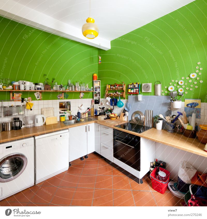 student kitchen Living or residing Flat (apartment) Redecorate Moving (to change residence) Arrange Interior design Room Kitchen Authentic Fresh Uniqueness