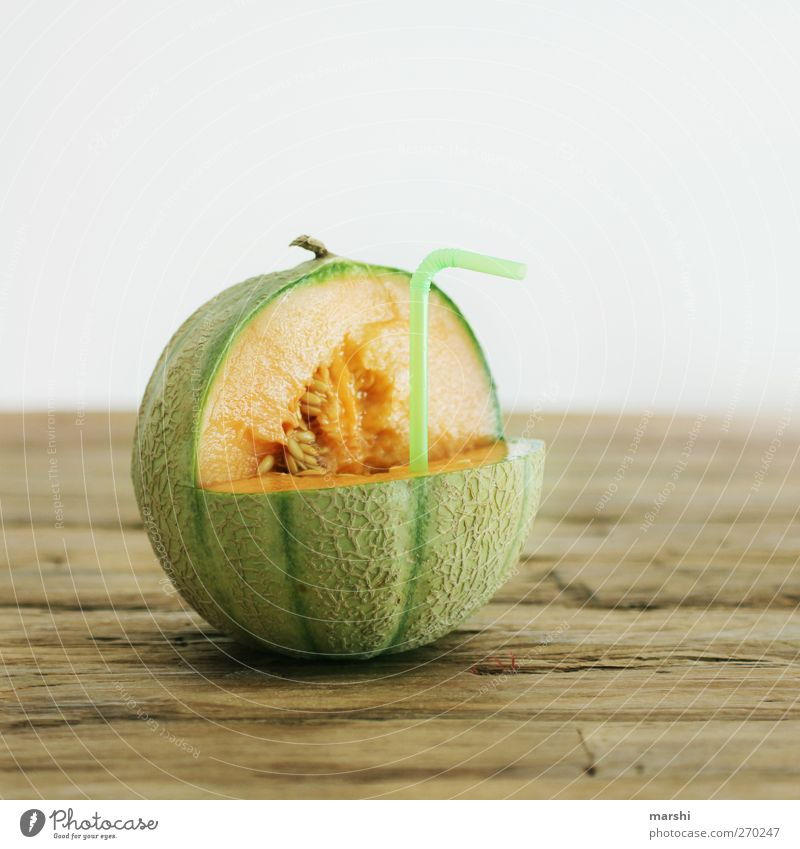 fresh melon juice Food Fruit Nutrition Beverage Drinking Cold drink Juice Sweet Green Orange Cantaloupe melon Melon Juicy Tasty Straw Healthy Vitamin Calorie