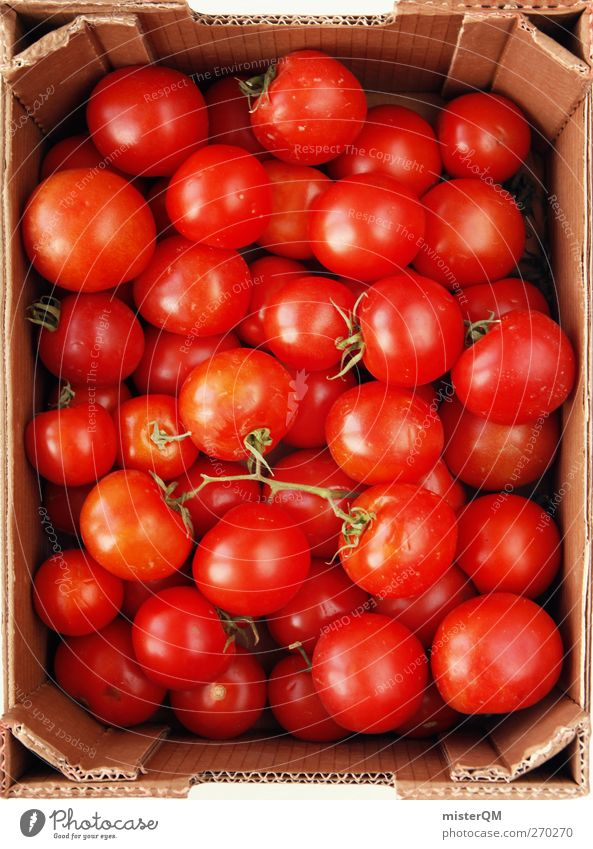 Red Food Art Healthy Esthetic Many Round Collection Crate Tomato Supply Stored Pantry Tomato salad Tomato plantation