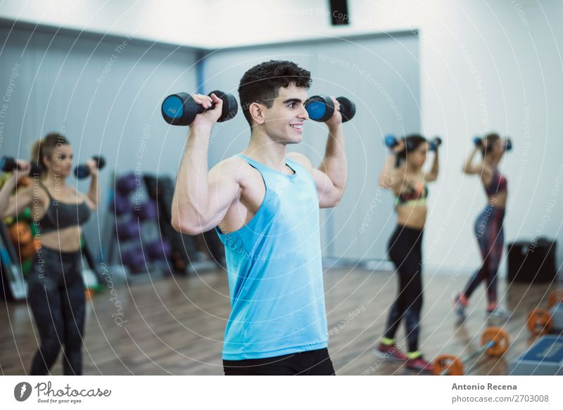 Fitness class Woman Human being Man Relaxation Lifestyle Adults Sports Happy Action Club Shoulder Disco Effort Guy Grade (school level)
