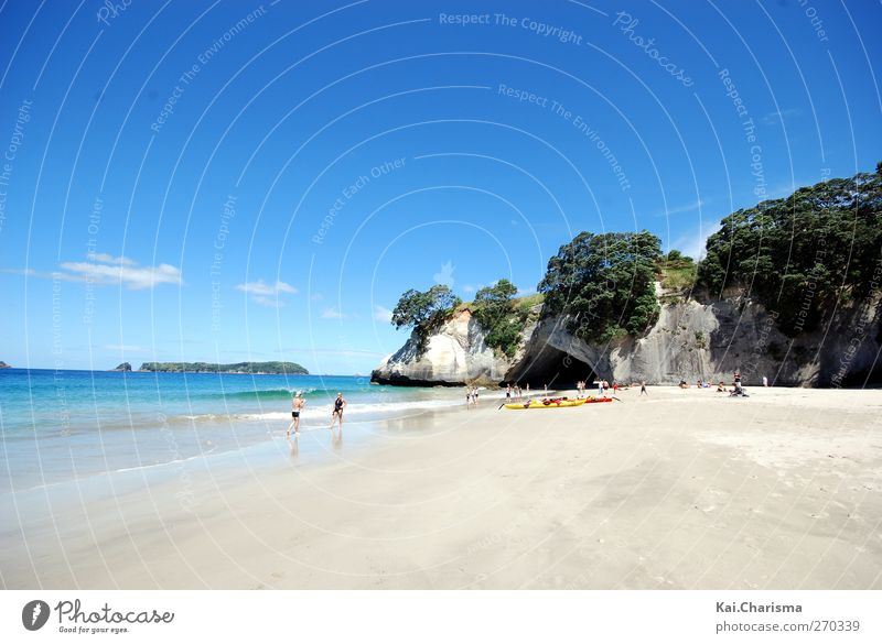 beach Sand Water Sky Summer Beach Bay Swimming & Bathing Colour photo Exterior shot Day