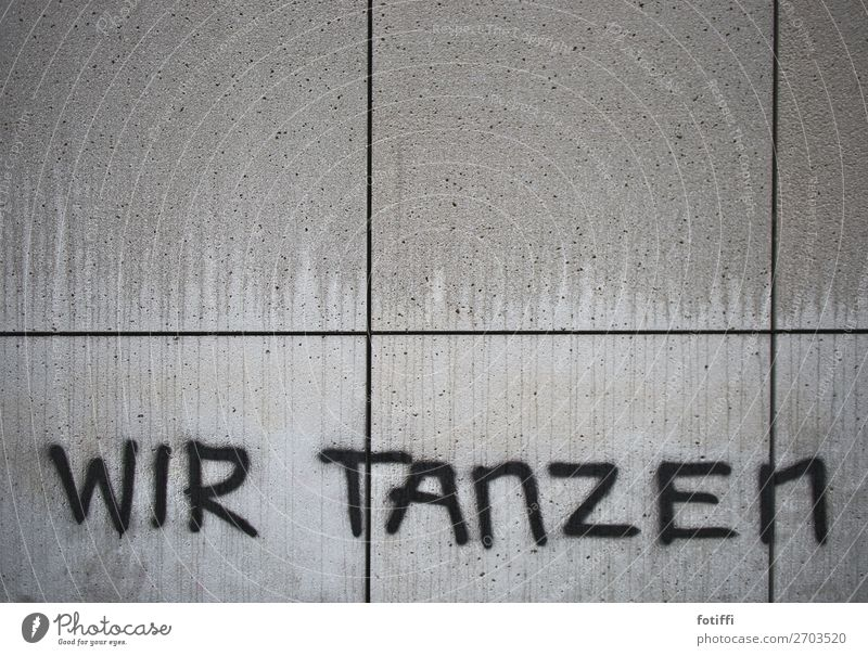 danced to the wall Wall (barrier) Wall (building) Gloomy Graffiti Concrete slab Dance we Sprayed capslock Word Information Section of image Black Wet Flow