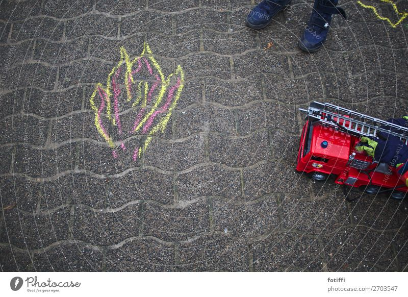 Water Red Joy Life Work and employment Fear Places Fire Help Painting (action, artwork) Blaze Protection Safety Smoke Drawing Paving stone