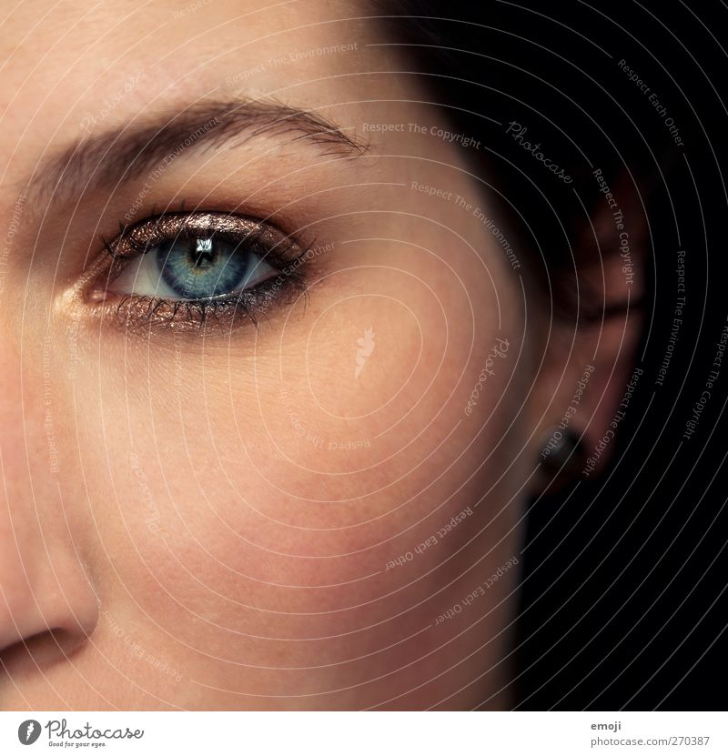Bern, Aarau, Zurich Feminine Youth (Young adults) Eyes 1 Human being 18 - 30 years Adults Beautiful Make-up Beauty Photography Colour photo Interior shot