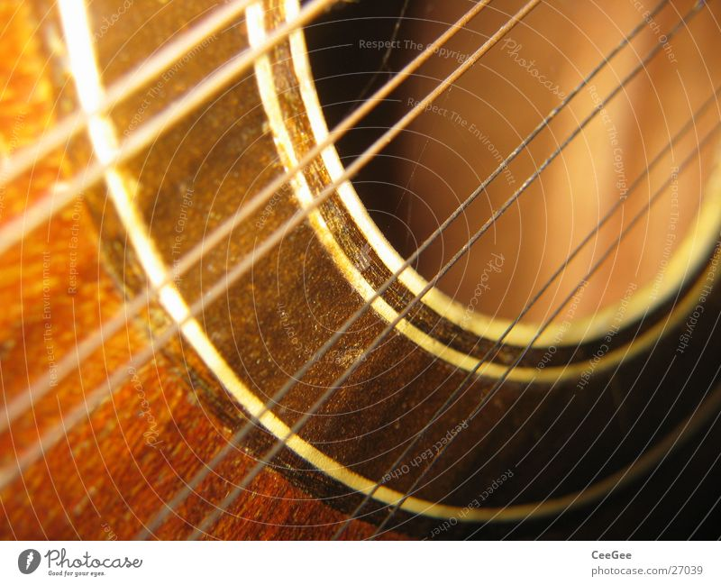 Strings and resonance Guitar Musical instrument string Resonator Wood Brown Round Make music Leisure and hobbies okkulele Hollow Tone Sound
