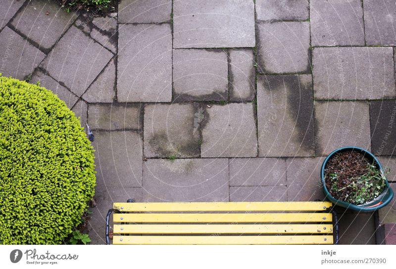 Emotions Garden Moody Arrangement Concrete Living or residing Perspective Bushes Break Bench Square Terrace Gardening Rectangle Diligent Paving tiles
