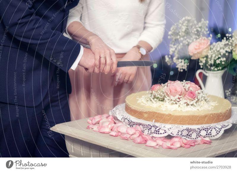 wedding cake Couple Together Love Cake Wedding Wedding couple Wedding anniversary Wedding ceremony bring up cut Matrimony wedding celebration Colour photo