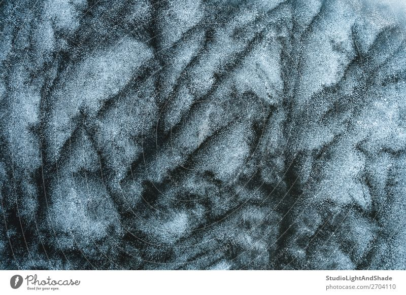 Abstract frosty pattern on ice Ocean Winter Snow Nature Glacier Lake River Crystal Ornament Freeze Dark Natural Gray Black White Frost Frozen background