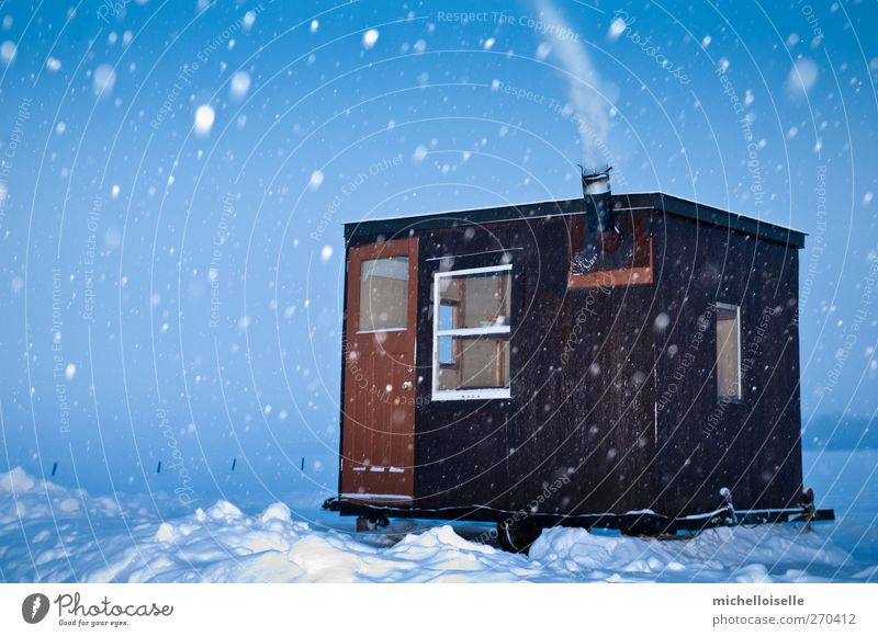 Cold Fishing Winter Snow Nature Landscape Sky Ice Frost Lake River Hut Small Blue Brown White Loneliness Adventure Shed Shack Frozen February Rustic Canada