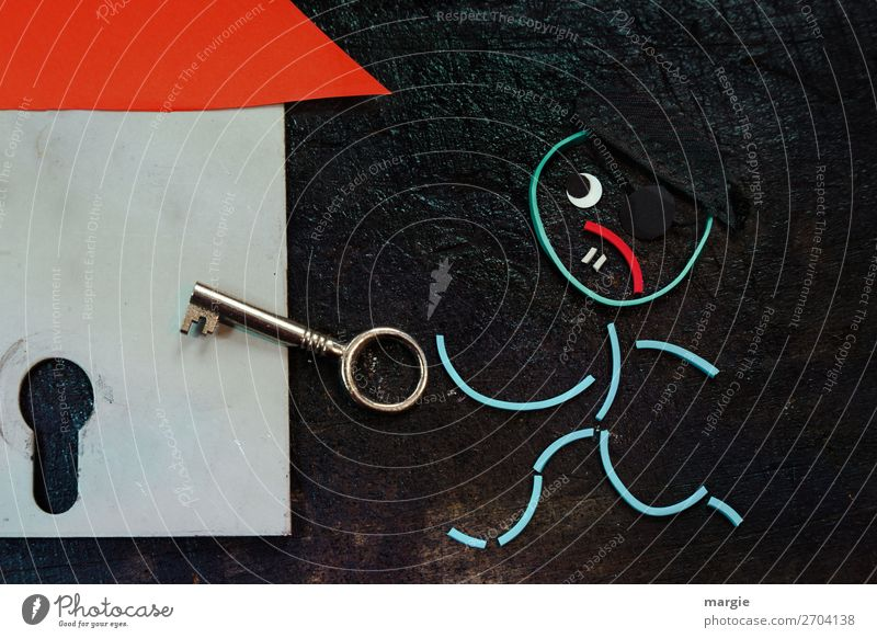 Rubber worms: At night, when everything's asleep... The burglar comes! Human being Masculine Man Adults 1 Red Black Collage Thief Theft