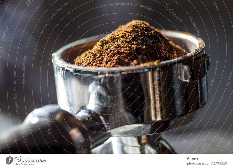 elixir of life Hot drink Espresso Coffee powder screen carrier Kitchen Bar Cocktail bar Café Fragrance To enjoy Drinking Fresh Delicious Brown Silver