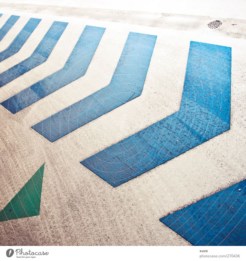 Blue Green White Lanes & trails Style Background picture Dirty Authentic Signs and labeling Transport Design Concrete Stripe Point Illustration Simple