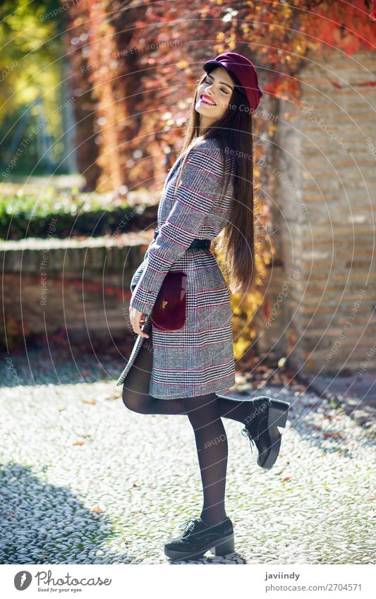 Young beautiful girl with very long hair wearing winter coat Lifestyle Style Beautiful Hair and hairstyles Winter Human being Feminine Young woman