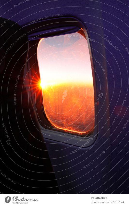 #AS# Far Light Transport Means of transport Passenger traffic Esthetic Airplane window Wanderlust Travel photography Vacation & Travel Traveling Sun