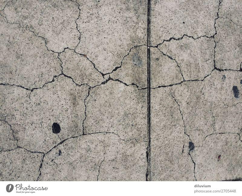 Dark Wall (building) Wall (barrier) Gray Broken Ground Asphalt Crack & Rip & Tear Breakage