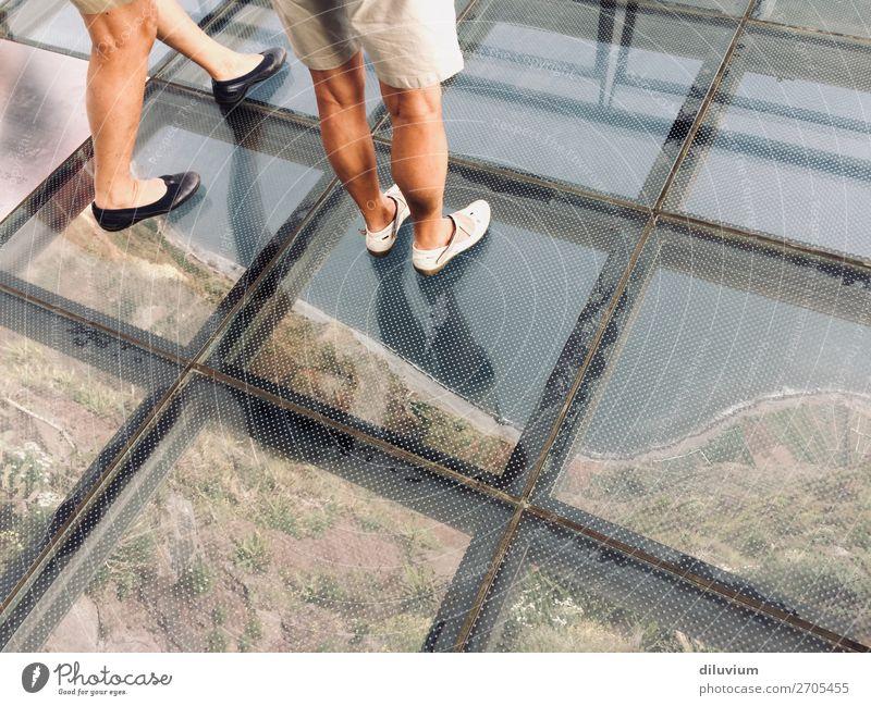 Human being Landscape Legs Feminine Coast Feet Footwear Fear of heights Madeira