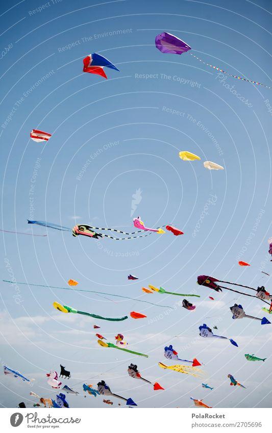#AS# DragonFest Lifestyle Esthetic Kite Hang gliding Kite festival Blue sky Wind Exterior shot Festival Music festival Multicoloured Colour photo Experimental