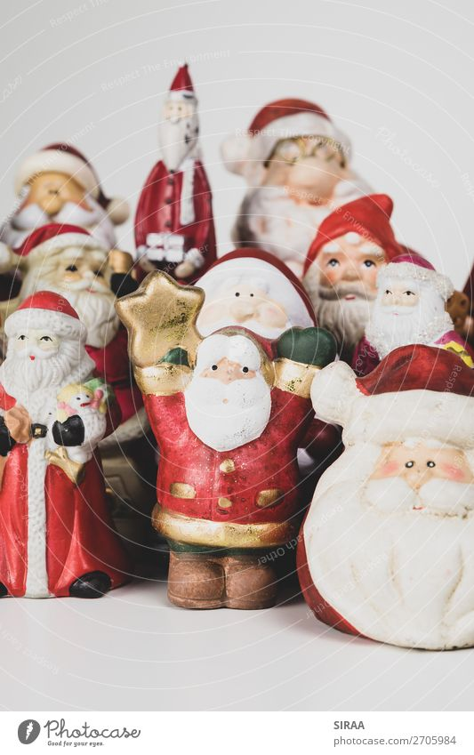 Christmas & Advent Red Feasts & Celebrations Decoration Kitsch Collection Cap Figure Santa Claus Pottery Clay Odds and ends Collector's item