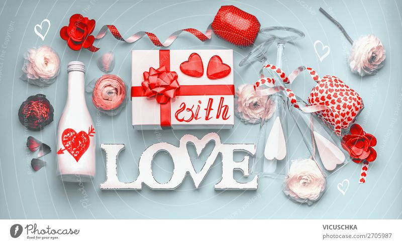Valentine's Day Party Style Design Decoration Event Feasts & Celebrations Heart Flag Love Emotions Champagne Communication Sale Winding road