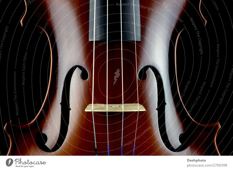 Violin Body Middle Section View on a Black Background Leisure and hobbies Art Culture Music Concert Orchestra Wood Listen to music Retro Brown Relaxation