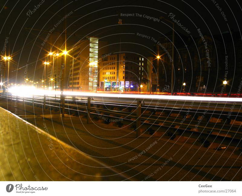 City Black Street Lamp Dark Car Lighting Europe Dresden Lantern Skyline