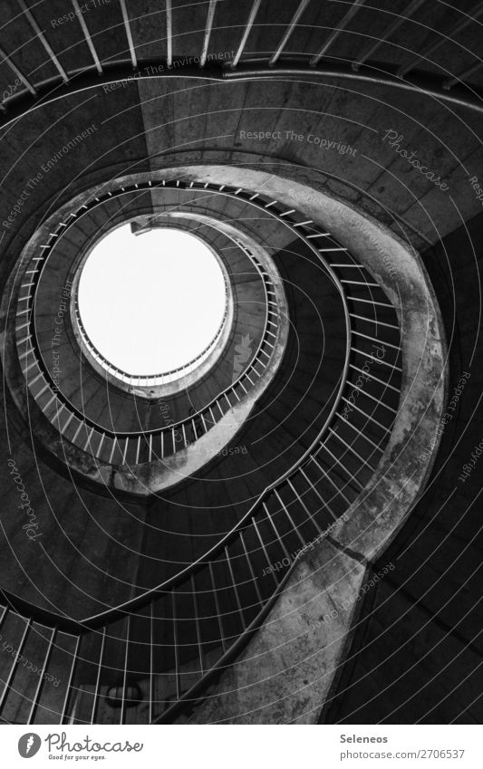 spiral staircase Manmade structures Building Architecture Stairs Winding staircase Rotate Black & white photo Exterior shot Structures and shapes Deserted