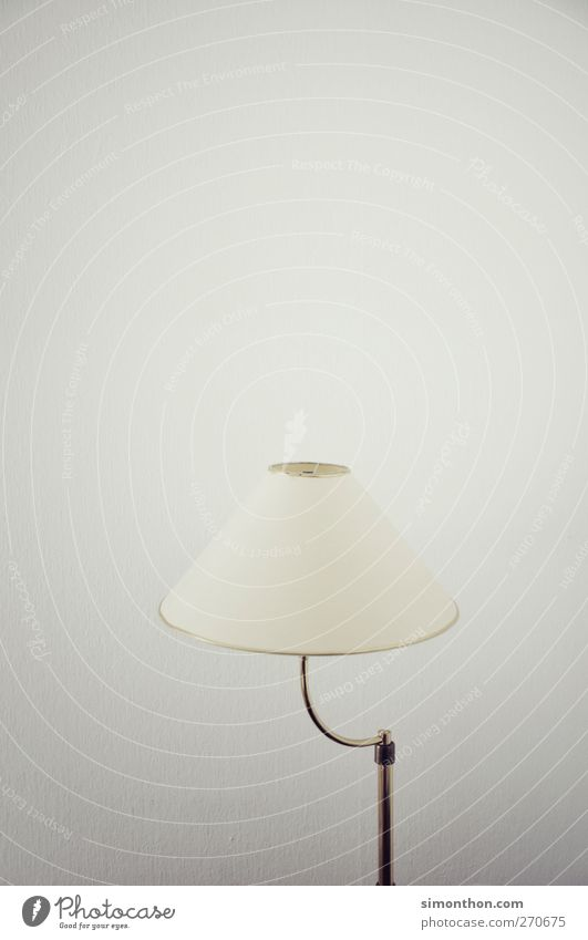 lamp Collector's item Thrifty Light Lamp Visual spectacle Flare Lampshade Lamplight Lamp stand Detail of lamp Retro Sixties Colour photo