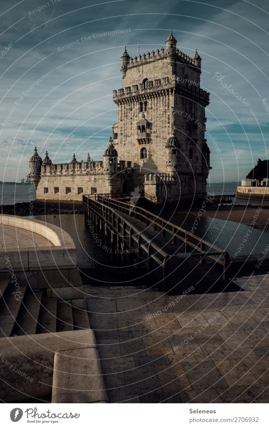 Belem Tower Vacation & Travel Tourism Trip Far-off places Sightseeing City trip Lisbon Portugal Capital city Manmade structures Building Architecture Wanderlust