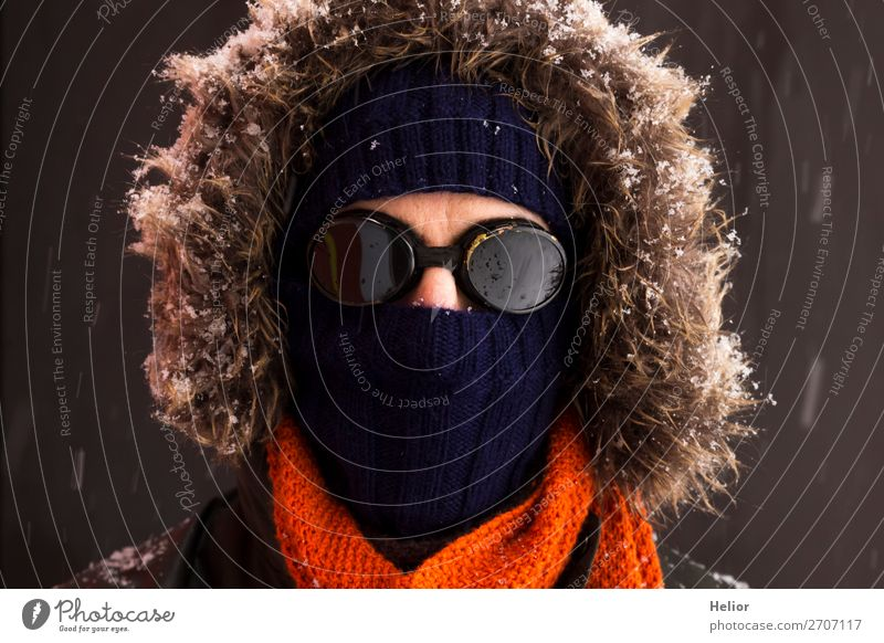 Human being Vacation & Travel Man Blue Green Winter Black Adults Cold Snow Sports Orange Brown Retro Ice Adventure