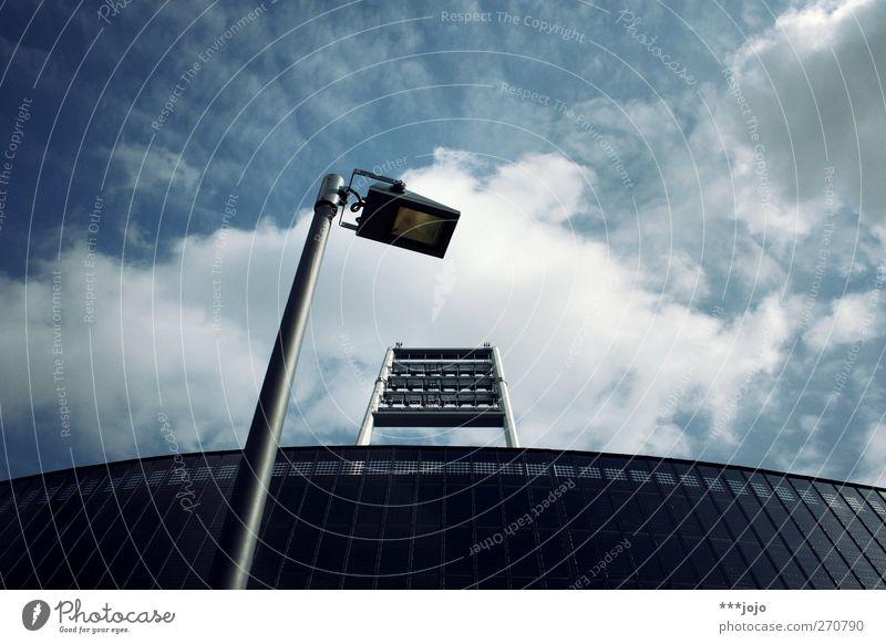 Sky Clouds Sports Architecture Bright Lighting Facade Soccer Modern Illuminate Street lighting Geometry Stadium Bremen World Cup Arena