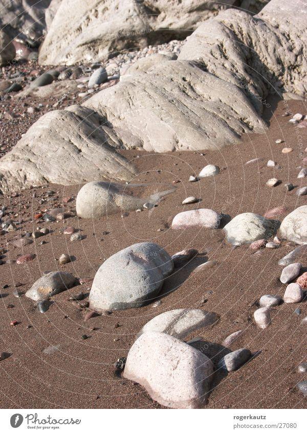 beach Beach Pebble beach Coast Stone Sand
