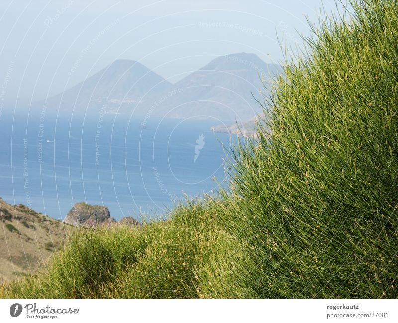 View from Volcano Vulcano Italy Lipari Coast Bad weather Vacation & Travel Island
