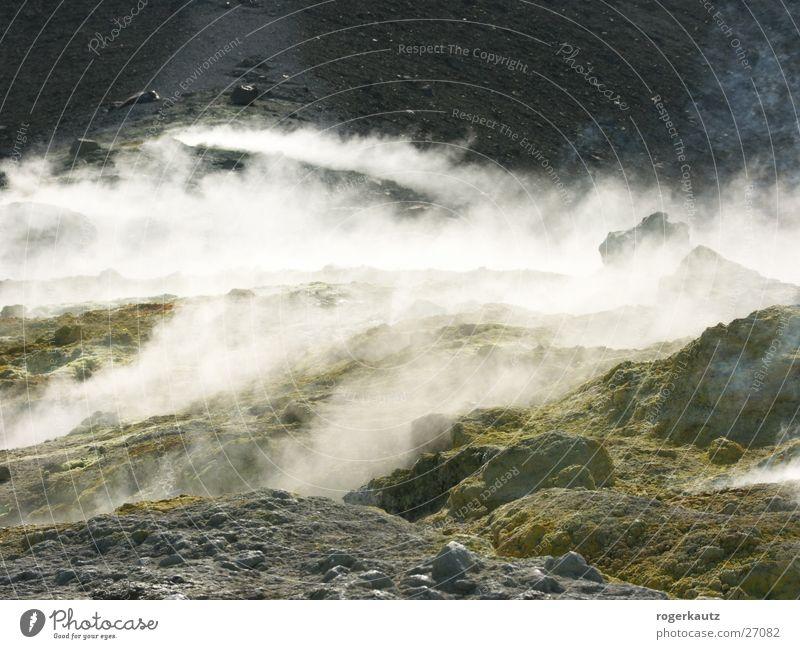 Italy Smoke Volcano Sulphur Vulcano