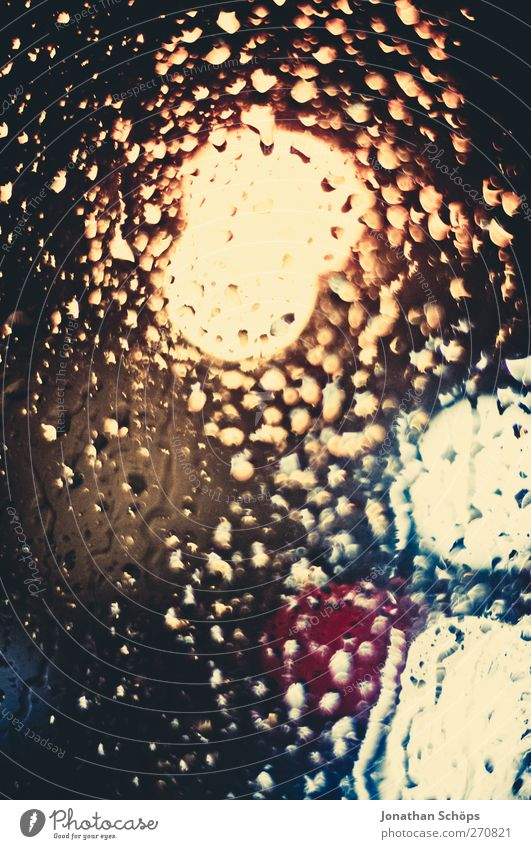 Rain drums on my window VII Water Drops of water Climate change Bad weather Storm Thunder and lightning Dream Esthetic Emotions Moody Life Hope Sadness