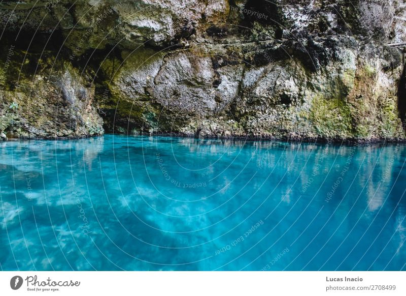 Hoyo Azul in Punta Cana, Dominican Republic Vacation & Travel Tourism Summer Island Blue Wanderlust America American Central America Destination Card Sunny