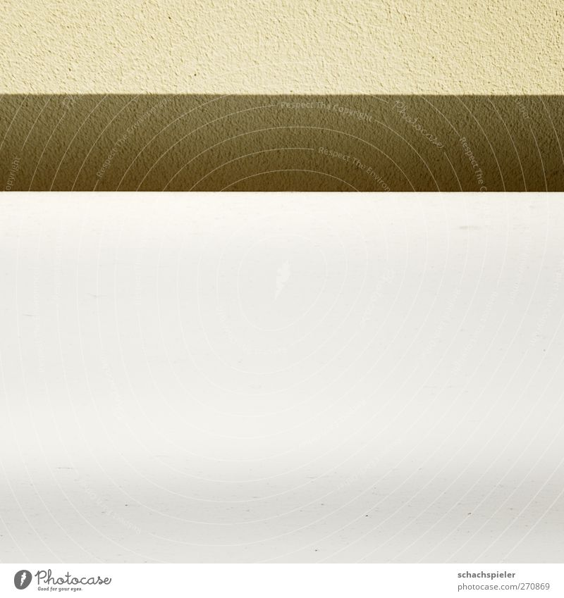 Three Wall (barrier) Wall (building) Facade Yellow White Vertical Poster Plaster Parallel Colour photo Subdued colour Exterior shot Detail Abstract