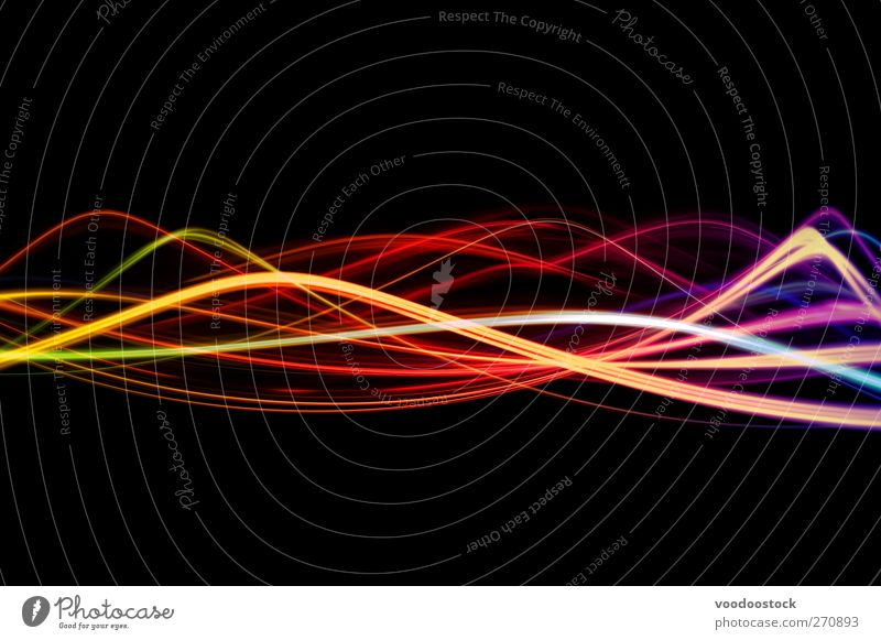 Lightwaves Joy Colour Black Yellow Movement Bright Line Orange Waves Energy industry Design Illustration Determination Night life Purple Clubbing