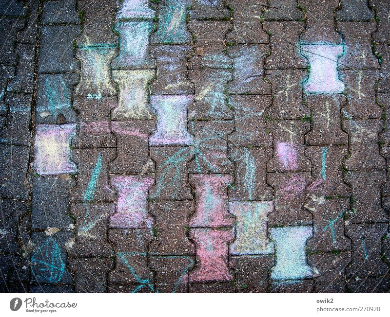 jigsaw Design Art Work of art Painting and drawing (object) Lanes & trails Paving stone Concrete Authentic Sharp-edged Happiness Funny Crazy Under Many Blue