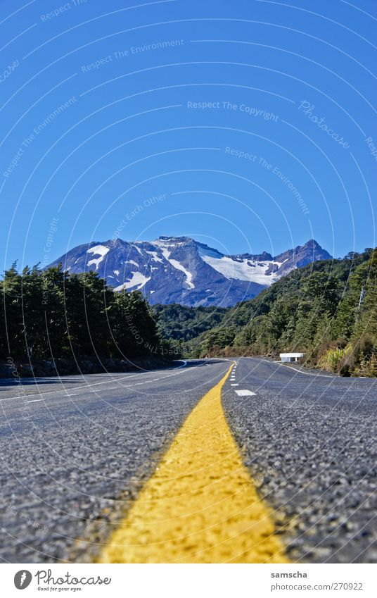 mountain weather Vacation & Travel Mountain Hiking Nature Landscape Cloudless sky Beautiful weather Alps Street Driving Blue Yellow Green Freedom Tourism